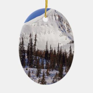 Big Sky Montana skiing and snowboarding resort Ceramic Ornament