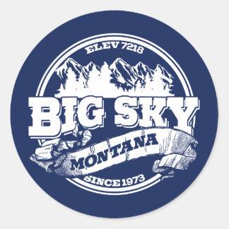 Big Sky Old Circle Blue Classic Round Sticker