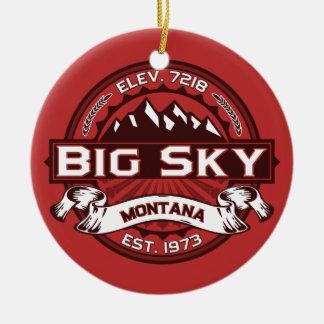Big Sky Red Ceramic Ornament