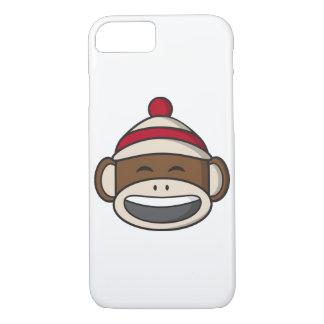 Big Smile Sock Monkey Emoji iPhone 8/7 Case