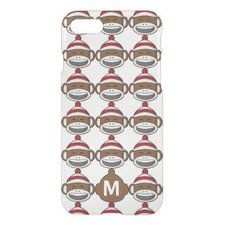 Big Smile Sock Monkey Emoji Monogrammed iPhone 8/7 Case