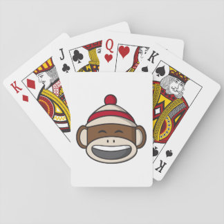 Big Smile Sock Monkey Emoji Playing Cards