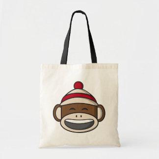 Big Smile Sock Monkey Emoji Tote Bag