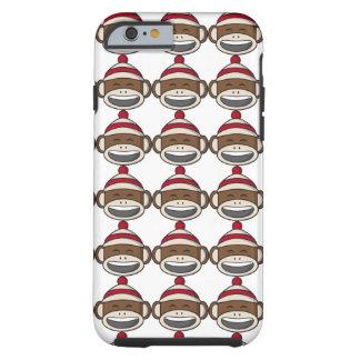 Big Smile Sock Monkey Emoji Tough iPhone 6 Case