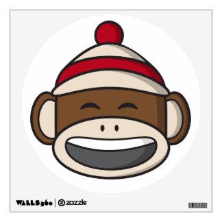 Big Smile Sock Monkey Emoji Wall Sticker