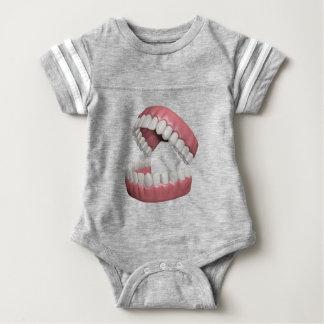 big smile teeth baby bodysuit