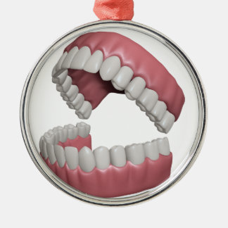 big smile teeth metal ornament