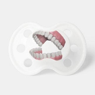 big smile teeth pacifier