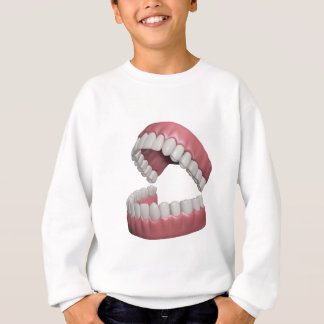 big smile teeth sweatshirt