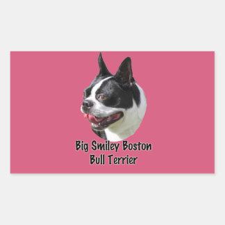 Big Smily Boston Bull Terrier Sticker