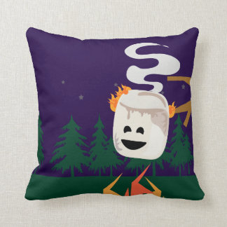 Big Smore Marshmallow Throw Pillow