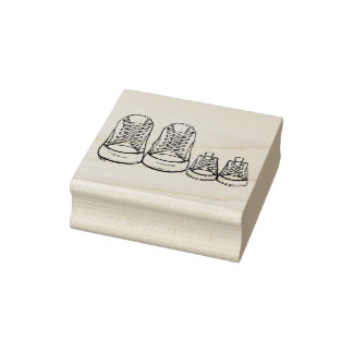 Big Sneaker Little Sneakers New Baby Shoes Stamp