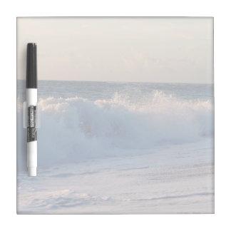 Big splashing waves sunrise Florida beach Dry Erase Board