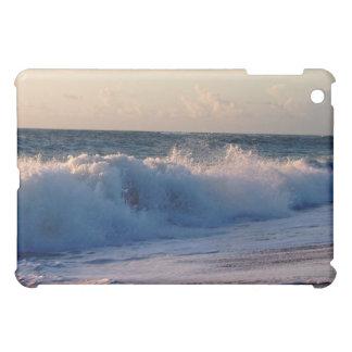 Big splashing waves sunrise Florida beach iPad Mini Cover