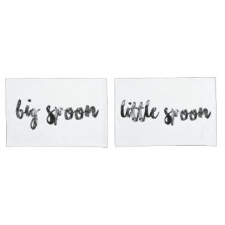 Big Spoon and Little Spoon Pair of Pillowcases Pillowcase
