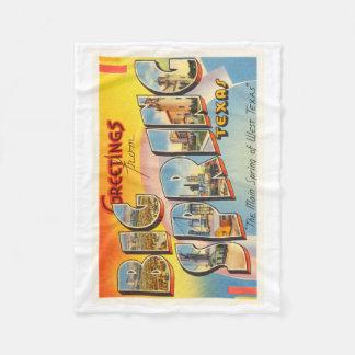 Big Spring Texas TX Old Vintage Travel Souvenir Fleece Blanket
