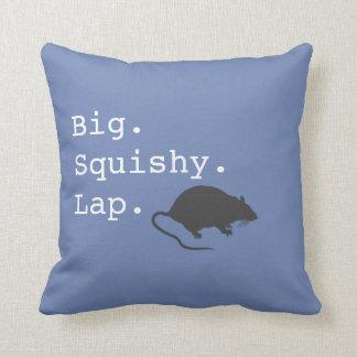 Big Squishy Lap Rat Throw Pillow