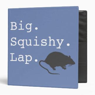 Big Squishy Lap Rat Vinyl Binder