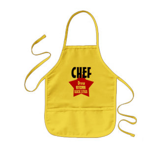 Big Star Custom Name CHEF Kitchen Rock Star V02A1 Kids Apron
