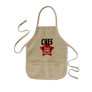 Big Star Custom Name CHEF Kitchen Rock Star V02A3 Kids Apron
