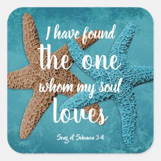 Big Starfish My Soul Loves Scripture Envelope Seal
