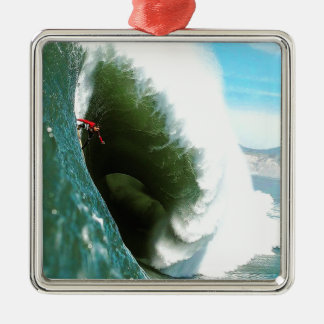 Big Steep Surfing Wave Metal Ornament