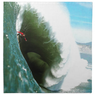 Big Steep Surfing Wave Napkin