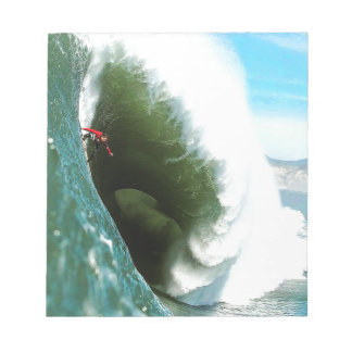 Big Steep Surfing Wave Notepad