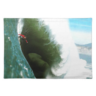 Big Steep Surfing Wave Placemat