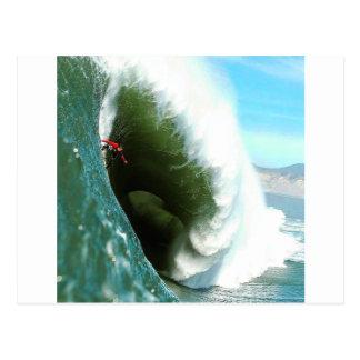 Big Steep Surfing Wave Postcard