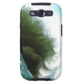 Big Steep Surfing Wave Samsung Galaxy S3 Covers