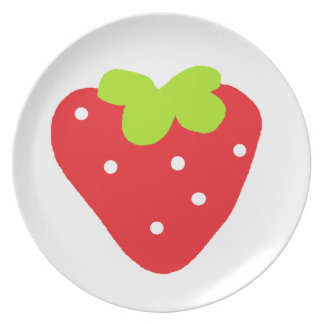 Big Strawberry Party Plates