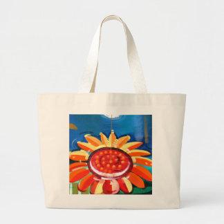 Big sunflower large tote bag