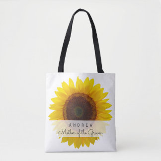 Big Sunflower Mother of the Bride Groom Gift Tote