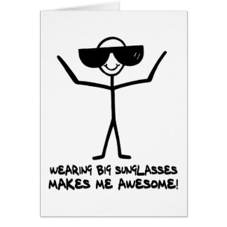 Big Sunglasses Card