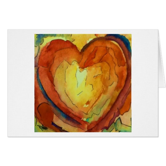 Big Sunny Meadow Heart Card