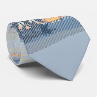 Big Sunset Hawaiian Island Single-Sided Tie