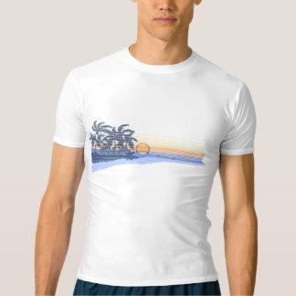 Big Sunset Hawaiian Surfer Rash Guard T-shirt