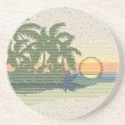 Big Sunset Hawaiian Tiki Bar Coasters