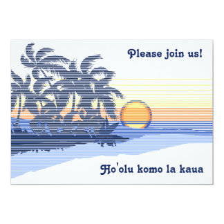 Big Sunset Luau Invitations