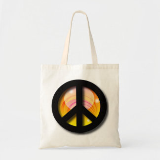 Big Sunset Peace Tote Bag