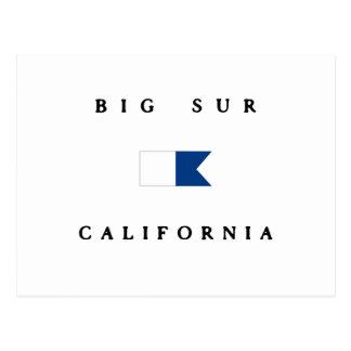 Big Sur California Alpha Dive Flag Postcards