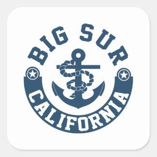 Big Sur California Square Sticker