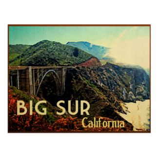Big Sur California Vintage Postcard