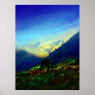 Big Sur Hills Poster