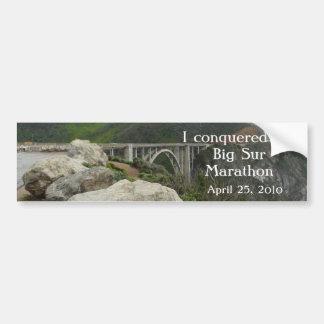 Big Sur Marathon Bumper Sticker