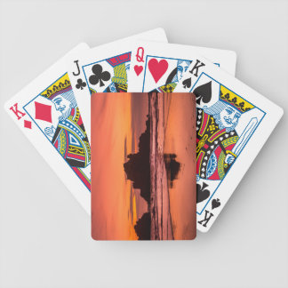 Big Sur Sunset Bicycle Playing Cards