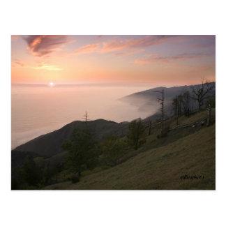 Big Sur Sunset Postcard