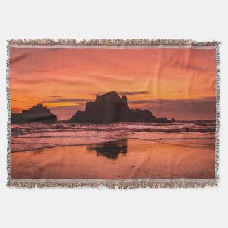 Big Sur Sunset Throw Blanket