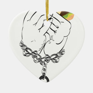 Big Tasty Burger and Hands2 Ceramic Ornament
